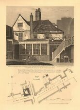 TOTENHALL MANOR HOUSE.Tottenham Court/Euston Road.Adam & Eve Tea House 1834 map