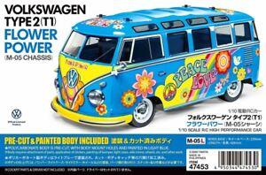 47453 Tamiya 1/10 RC Car M-Chassis Car Volkswagen VW Type 2 T1 w/ESC Prepainted