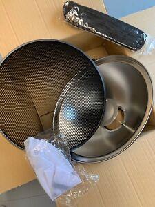 50cm Studio Beauty Dish - Elinchrom Fitting Black , Honeycomb, Grid, diffuser
