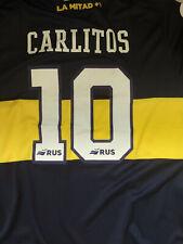 2020-2021 Boca Juniors Copa Libertadores Home Soccer Jersey #10 CARLITOS