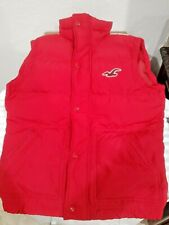 New Hollister Puffer Red Vest Mens Size: Small