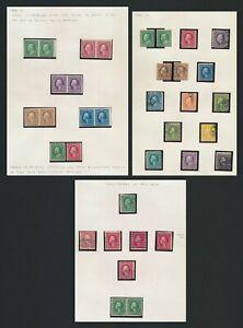 US STAMPS 1908-1914 WASHINGTON FRANKLINS INC IMPERF PAIR SET & p.12xMPERF