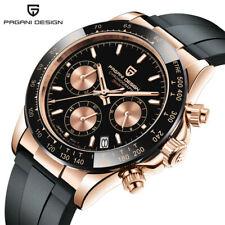 PAGANI DESIGN Men Japan Quartz Wrist Watch PD-1664 Waterproof Rubber Band Gift