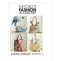 McCall's 4794 HANDBAGS PURSES BAGS TOTE HAT Laura Ashley Designer Sew Pattern