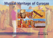 More details for curacao music stamps 2019 mnh musical heritage instruments wiri dance 4v m/s