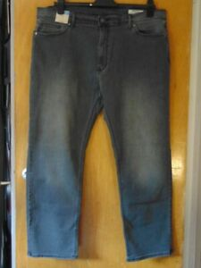 "M&S Straight Stretch Jeans Cotton Rich W40"" L29"" Grey BNWT"