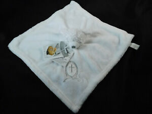 Blankets & Beyond White Christening Baptism Lovey Security Blanket New w Tags