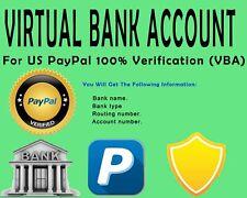 U.S. Virtual Bank Account  FOR PAYPAL VERIFICATION |NO VCC