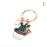 1pc Creative Succulent Plants Cactus Keychain Key Ring Keyfob Key Chain Cute LJ
