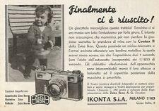 Y0153 Macchina fotografica Contax II - IKONTA - Pubblicità 1937 - Advertising