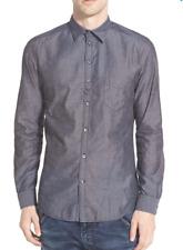 NEW Diesel Nami Long Sleeve Sport Trim Fit Shirt GREY Sz XL