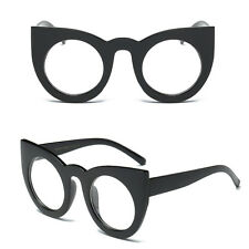Fashion Round Cat Eye Oversized Sunglasses Retro Thick Vintage Style Frame Women 1#
