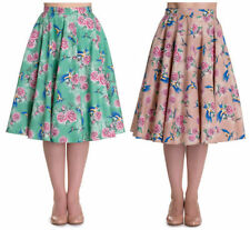 Hell Bunny Knee Length Cotton Skirts for Women