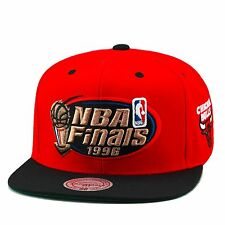 "Mitchell & Ness Chicago Bulls Snapback Hat RED/Black/Copper ""NBA Finals 1996"""