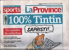Revue sur Tintin. La Province du 10 janvier 2004. 100 % Tintin