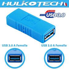 Adaptateur Convertisseur Connecteur Prise Fiche USB 3.0 femelle / femelle 5Gbps