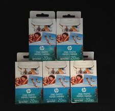 HP ZINK Photo Paper for HP Sprocket Photo Printer 100 (5 Boxes of 20)