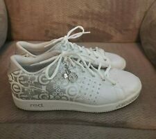 Marc Ecko Red Womens 9 Athletic Shoes White Silver Rhinestones