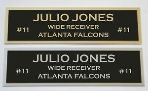 Julio Jones nameplate for signed jersey football helmet or photo