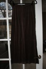 Victoria's Secret Plush and Lush Size XS Brown Velour Pants with Back Pockets