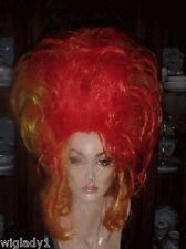 SIN CITY WIGS LONG SEXY WILD FUNKY MULTI COLOR RED ORANGE BIG HAIR TEASED FUN