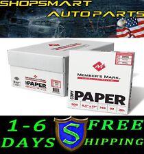 "COPY PAPER CASE 5,000 TOTAL SHEETS LETTER SIZE 92 BRIGHT 8-1/2 X 11"" 10 REAMS"