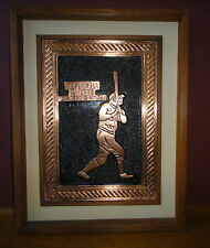 Plaque for Yankees Fan Cave  Babe Ruth, facsimile autograph & Baseball is life..