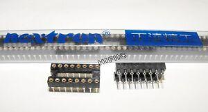 4x NEXTRON ROUND PIN IC SOCKET DIP16 DIP-16