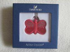 Clé USB Collier Pendentif Swarovski Crital Papillon Rouge Rose NEUF