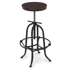 Rustic Bar Stool Home Adjustable Seat Height Countertop Vintage Swivel Modern