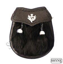 Bebé Semi Vestido Negro Piel de conejo Escarcela Kilt Con Un Cardo Emblema &