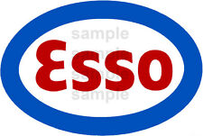 4 INCH ESSO GASOLINE GAS STATION DECAL STICKER SEVERAL SIZES AVAILABLE