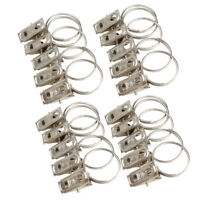 20Pcs Metal Curtain Pole Rod Voile Net Rings With Clips Hanging Hooks Holder