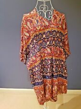 NEW Label of Love Women Paisley Jumpsuit Playsuit  V Neck Zip Back Size 14 XL