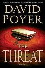 "SIGNED ""The Threat"": A Dan Lenson Novel by Poyer, David BRAND NEW 1st Ed/Pr H1"