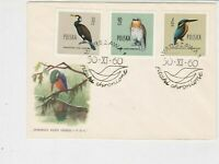 Poland 1960 Protected Birds Double Bird Slogan Cancel FDC Stamps Cover Ref 25142