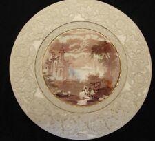 Maling Ware Platte Plaque Newcastle Upon Tyne Antik Grasende Rinder Creamware