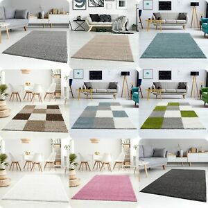 SHAGGY RUGS for LIVING ROOM BEDROOM LARGE EXTRA LARGE SMALL FLUFFY RUNNER CARPET