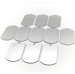 LOT OF 100 200 500 1000 BLANK DOGTAG STAINLESS STEEL MILITARY SPEC SHINY MATTE