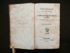 Alessandro Manzoni Tragedie Conte Carmagnola Adelchi Poesie Inni Firenze 1827
