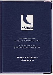 CAA Private Pilot Licence Holder Navy Blue (Large)