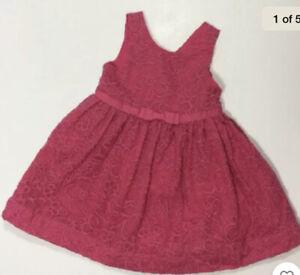 NWT Girls Janie & Jack Pink Flamingo Island Embroidered Floral Dress Sz 10