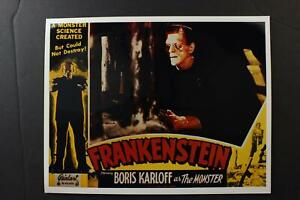 LOT # 9: 12 REPRODUCTION HORROR MOVIE LOBBY CARDS~FRANKENSTEIN~BAT~WOLF MAN~