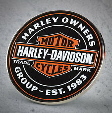HARLEY DAVIDSON OWNERS GROUP HOG OIL CAN VEST WITH PIN BAR AND SHIELD ** NEW **