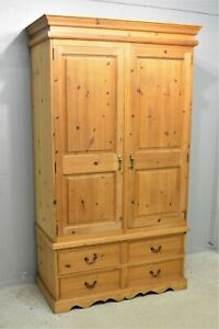 Solid Pine Quality Clean Wardrobe with 4 Drawers Dovetail Delivery Available
