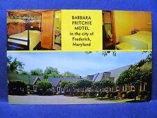 Postcard MD Frederick Barbara Fritchie Motel