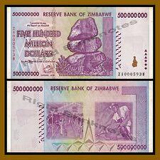 Zimbabwe 500 Million Dollars, 2008 P-82 Replacement (ZA) Circulated