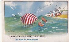 Carte postale HUMORISTIQUE HUMOUR DONALD MC GILL english england sous-marins bis