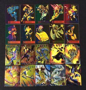1995 FLEER ULTRA MARVEL X-MEN INSERT CHASE COMIC CARD SINGLES YOU CHOOSE