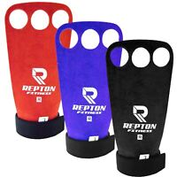 Crossfit Guards Grips Palm Hand Protectors LeatherPull Up Lift 3 SIZES 2 COLOURS